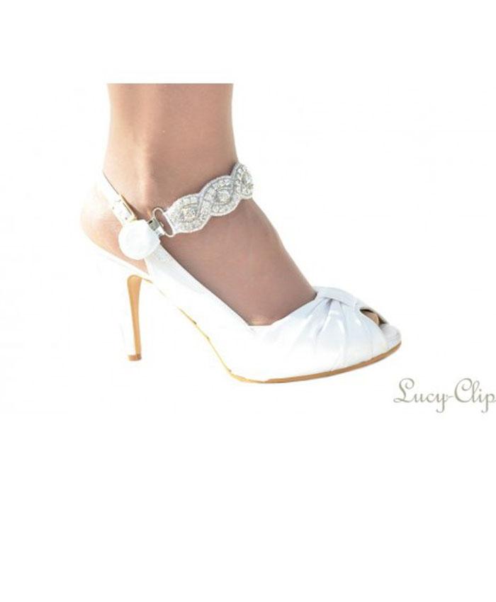Lucy Clip ocasiones especiales blanco bordado