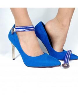 Lucy Clip Fashion de ante azul