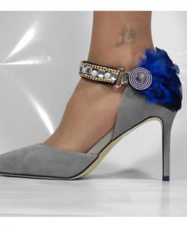 Lucy Clip Ocasiones Especiales con pluma azul