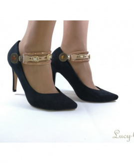 Lucy Clip PERLAZ BEIGHT. Dorado