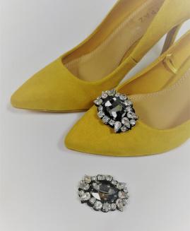 Broche Para zapatos piedra Negra