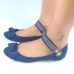 Lucy Clip Azul y dorado