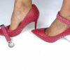 Lucy Clip Multi Tachas Rojo