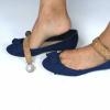 Pulseras para zapatos desmontables Lucy Clip Tachas Camel
