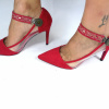 Lucy Clip Tachas Rojo