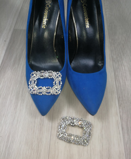 Broche Para Zapatos Cuadrados Swarovsky